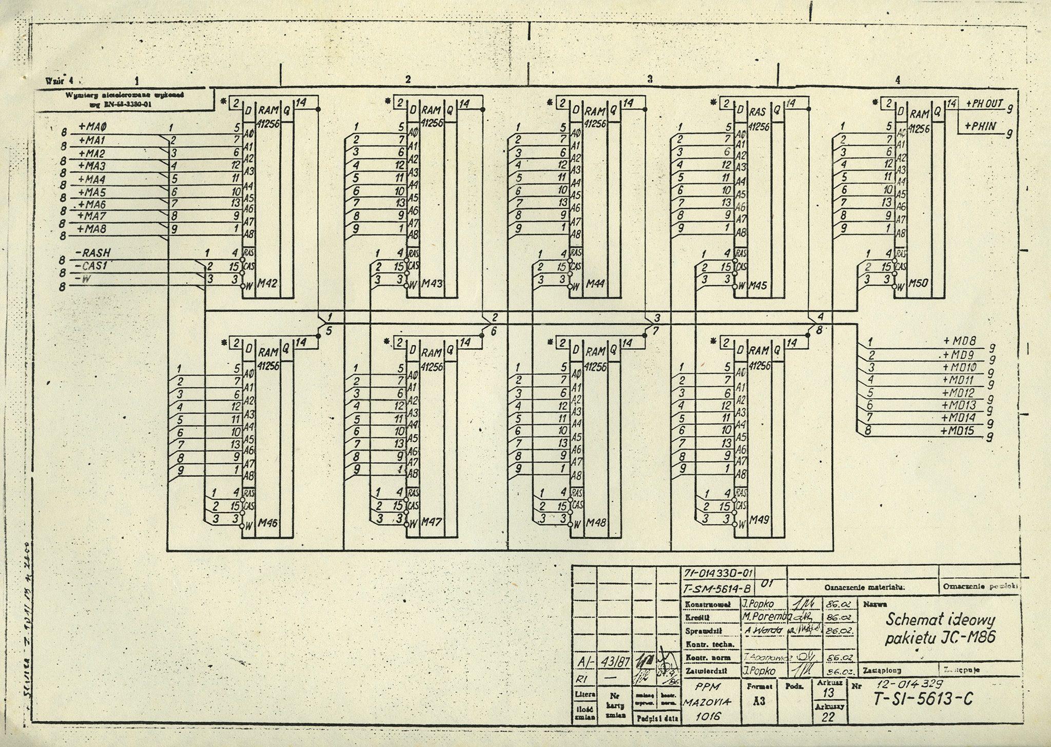 Oryginalna dokumentacja domikrokomputera Mazovia 1016 zkolekcji Polskie Komputery