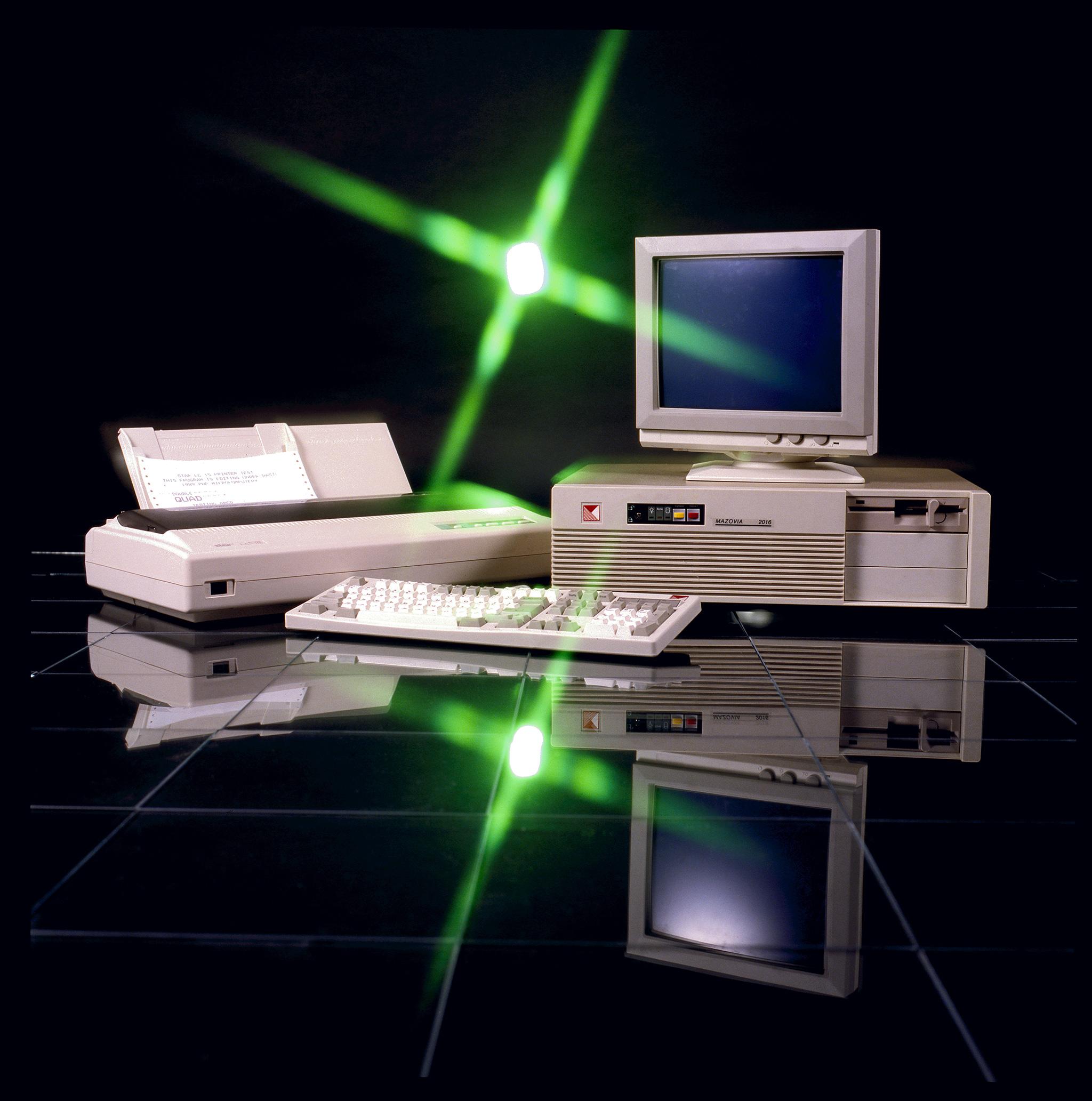 Mikrokomputer Mazovia 2016 złożony wcałości zkompnentów importowanych. Polskie zostało już tylkologo naobudowie