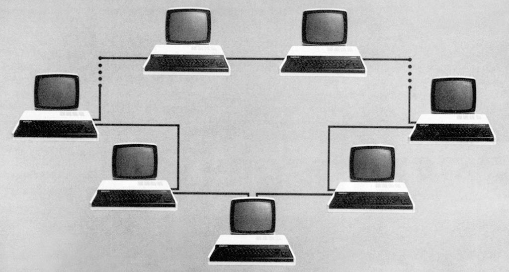 Schemat połączeń sieci JUNET