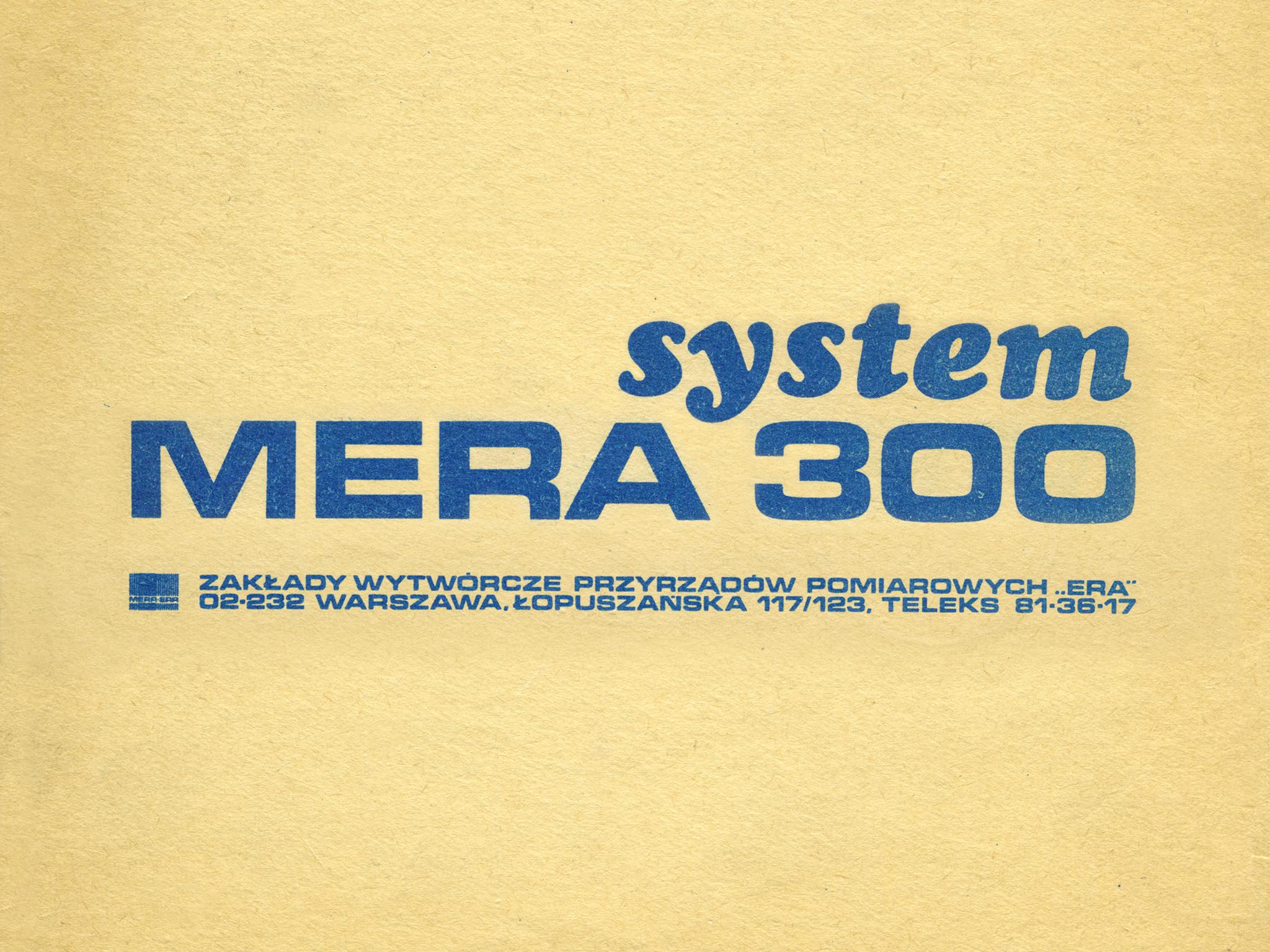 System MERA 300 – prospekt informacyjny