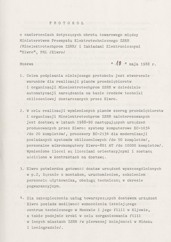 Protokół Elwro z1988 Elwro 801AT polskiekomputerypl