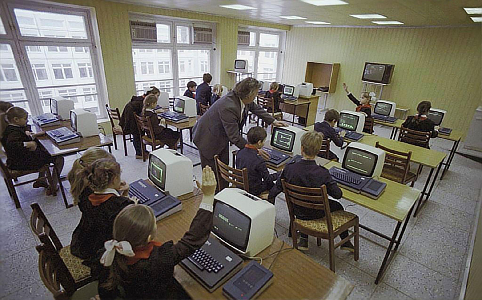 Mikrokomputery Meritum Ipołączone wsieć.