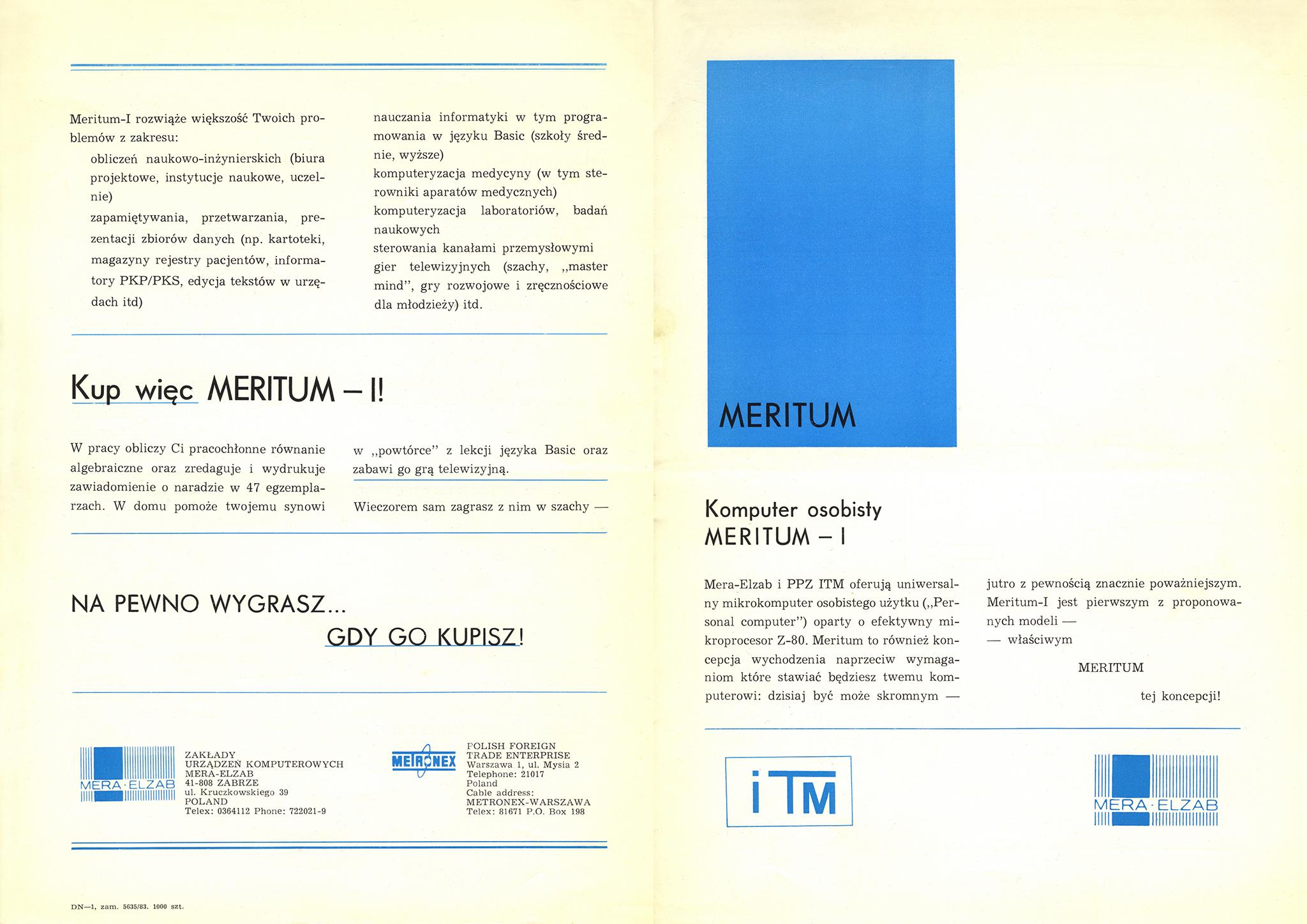 Komputer osobisty Meritum I